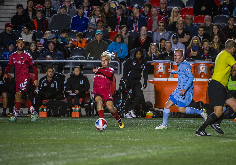 Ottawa Fury FC midfielder Maxime Tissot (#51) during the NASL match between the Ottawa Fury FC and Minnesota United FC at TD Place Stadium in Ottawa, ON. Canada on Sept. 24, 2016. Fury extending their unbeaten run to 7 games with a 3-1 win after trailing 1-0 at half time.<br /> <br /> PHOTO: Steve Kingsman/Freestyle Photography