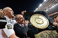 Thomas SAVARE / Sergio PARISSE  - 13.06.2015 - Clermont / Stade Francais - Finale Top 14<br />Photo : Nolwenn Le Gouic / Icon Sport