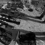 Jul 16, 2009 - Kandahar Province, Afghanistan - A Taliban weapons cache consisting of AK-47's, PKM machine gun RPG's (Rocket Propelled Grenades), ammunition and materials for making IED's seen in Nakhonay located in the volatile Panjway District just west of Kandahar City in Kandahar Province, Afghanistan. <br /> (Credit Image: © Louie Palu/ZUMA Press)