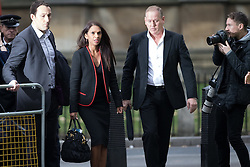December 8, 2016 - London, London, UK - LONDON, UK.  GINA MILLER arrives at the Supreme Court in Westminster, London for the fourth and final day of a Supreme Court hearing to appeal against the High Court ruling that Article 50 and Brexit cannot be triggered without a vote in Parliament. (Credit Image: © Vickie Flores/London News Pictures via ZUMA Wire)