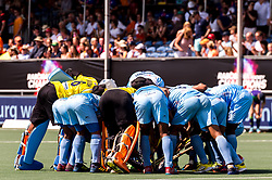 India at the start of the match during the Champions Trophy match between the Netherlands and India on the fields of BH&BC Breda on June 30, 2018 in Breda, the Netherlands
