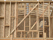 wooden framework of a new house