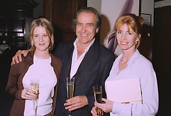 Left to right, MISS KATIE SCARFE and her parents GERALD SCARFE and actress JANE ASHER, at a party in London on 17th September 1997.MBG 16