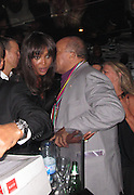 Naomi Campbell and Quincy Jones..Fashion For Relief Japan Fundraiser Hosted by Naomi Campbell After Party..2011 Cannes Film Festival..Baoli Restaurant..Cannes, France..Monday, May 16, 2011..Photo By CelebrityVibe.com..To license this image please call (212) 410 5354; or.Email: CelebrityVibe@gmail.com ;.website: www.CelebrityVibe.com