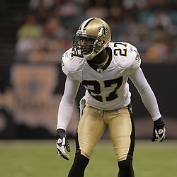 2009 August 14: during 17-7 win by the New Orleans Saints over the Cincinnati Bengals in their preseason opener at the Louisiana Superdome in New Orleans, Louisiana.