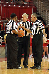 04 December 2013:  Ed Hightower, Eric Curry, and Kelly Self during an NCAA  mens basketball game between the Cougars of Chicago State and the Illinois State Redbirds  in Redbird Arena, Normal IL