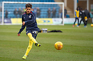 Scunthorpe United midfielder Yasin Ben El-Mhanni (19) in the warm-up session ahead of the EFL Sky Bet League 1 match between Gillingham and Scunthorpe United at the MEMS Priestfield Stadium, Gillingham, England on 16 February 2019.