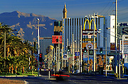 Image of hotels and restaurants along The Strip in Las Vegas, Nevada, American Southwest by Randy Wells