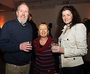 Dave O Connell, Connacht Tribune, Judy Murphy Connacht Tribune and Gine Mannion , Knocknacarra  at The Jameson The Black Barrel Craft Series  at Old printing works, Market Street with music by Corner boy.  Photo:Andrew Downes