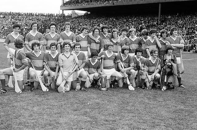 The winning Tipperary team celebrating on the pitch after the All Ireland Minor Hurling Final, Tipperary v Kilkenny in Croke Park on the 5th September 1976.