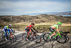 LAVRIČ Martin (SLO) of Slovenian National Team, PERNSTEINER Hermann (AUT) of BMC Amplatz, McLAUGHLIN James (GBR) of Hrinkow Advarcis Cycling during the UCI Class 1.2 professional race 4th Grand Prix Izola, on February 26, 2017 in Izola / Isola, Slovenia. Photo by Vid Ponikvar / Sportida