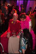 ANGELA FLOWERS; EMILY FLOWERS, Andrew Logan's Alternative Miss World 2014. Shakespeare's Globe, London. 18 October 2014.
