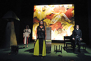 Cinta Esbri (played by Ana Criado) and Carles Santos as himself in Ricardo I Elena, an opera based on the life of Carles Santos and staged by his own company which is on at the King's Theatre until 23 August as part of the Edinburgh International Festival.