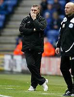 Photo: Steve Bond/Richard Lane Photography. Leicester City v Peterborough United. Coca-Cola Football League One. 20/12/2008. Nigel Pearson looks pensive