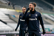 Leeds United forward Tyler Roberts (11) gestures and reacts warming up during the Premier League match between Newcastle United and Leeds United at St. James's Park, Newcastle, England on 26 January 2021.