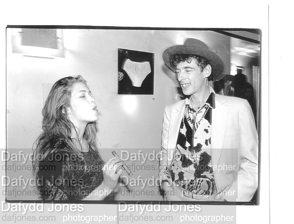 Naomi Knight, Gaz Mayall, Gordon McHarg exhibition, The Groucho Club, 10th Feb 1997© Copyright Photograph by Dafydd Jones 66 Stockwell Park Rd. London SW9 0DA Tel 020 7733 0108 www.dafjones.com