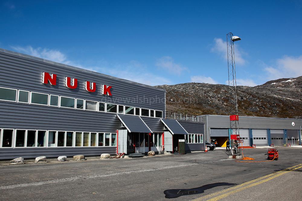 Nuuk Airport, - Nuuk Lufthavn - Greenland. Copyright 2009 Dave Walsh