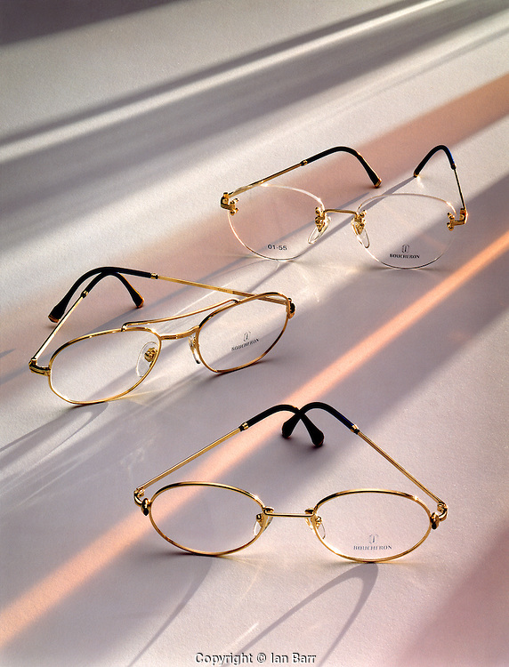 still life of Boucheron eye glasses.