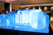 ICE-SCULPTURE, Bonhams Auction house hosts festive drinks to preview the first phase of the reconstruction of its Mayfair Headquarters - due for completion in 2013.<br /> Bonhams, 101 New Bond Street, London, 19 December 2011.