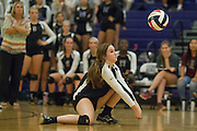 Round Rock's Lizzy Mahan attempts a return against Cedar Ridge Tuesday at Cedar Ridge Gym.  The Lady Dragons beat the Lady Raiders in four games.  (LOURDES M SHOAF for Round Rock Leader.)