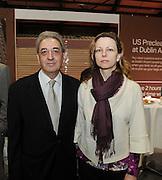 Pictured at the Holiday World Show Ambassador Reception was from left to right: Costas Papademas Ambassador of Cyprus and Hana Mottlova Ambassador of Czech Republic <br />Photograph: Aidan Crawley