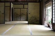 inside the Rinshunkaku historical residence at Sankeien Japanese garden in Yokohama