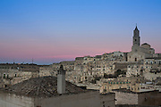 View of Matera with the Catthedral