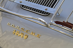 June 9, 2017 - Italy - Detail of Porsche 1600 Super. Supercar and luxury sports car on exhibition during Turin Car Show. (Credit Image: © Marco Destefanis/Pacific Press via ZUMA Wire)