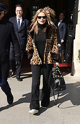 Kate Moss is seen leaving the Ritz in Paris to go back to London. 28 Feb 2018 Pictured: Kate Moss. Photo credit: MEGA TheMegaAgency.com +1 888 505 6342