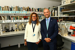 Ben macpherson minister for migration with Dr Natalie Serpetti Italy   on the ministers visit to      Argyll and Bute  picture kevin mcglynn