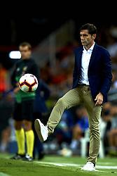 October 8, 2018 - Valencia, Valencia, Spain - Marcelino Garcia Toral controls the ball during the week 8 of La Liga match between Valencia CF and FC Barcelona at Mestalla Stadium in Valencia, Spain on October 7, 2018. (Credit Image: © Jose Breton/NurPhoto/ZUMA Press)