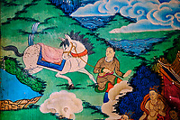 Inde, Bengale Occidental, Darjeeling, Ghum, interieur du Monastère Yiga Choeling gompa // India, West Bengal, Darjeeling, Ghum, Yiga Choeling Monastery