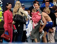 Photo: Daniel Hambury.<br />Chelsea v Manchester United. The Barclays Premiership. 29/04/2006.<br />Some of Chelsea's player's wives and girlfriends, including Frank Lampard's partner with their daughter.