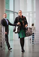 DEU, Deutschland, Germany, Berlin, 27.09.2017: Nicole Höchst (MdB, AfD) auf dem Weg zur Fraktionssitzung der AfD-Bundestagsfraktion im Deutschen Bundestag.