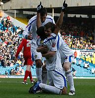 Photo: Steve Bond/Richard Lane Photography. Leeds United v Swindon Town. Coca Cola League One. 14/03/2009. Jermaine Beckford celebrates