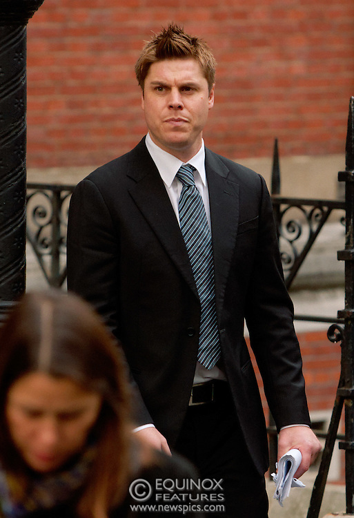 London, United Kingdom - 22 November 2011.Manager of football team Chorley and former footballer with Blackburn Rovers, Garry Flitcroft. Witnesses arrive for hearings for the Leveson Enquiry into allegations of phone hacking by the media. Royal Courts of Justice, Charing Cross, London, England, UK..Copyright: ©2011 Equinox Licensing Ltd. +448700 780000 - Contact: Equinox Features - Date Taken: 20111122 - Time Taken: 131025+0000 - www.newspics.com