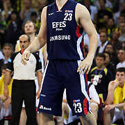 Efes Pilsen's Ermal KURTOGLU during their Turkish Basketball league Play Off Final Sixth Leg match Fenerbahce Ulker between Efes Pilsen at the Abdi Ipekci Arena in Istanbul Turkey on Wednesday 02 June 2010. Photo by Aykut AKICI/TURKPIX