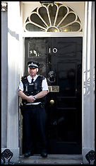 Police officers on the Steps on No10
