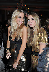 Left to right, sisters POPPY DELEVINGNE and CARA DELEVINGNE at the Harper's Bazaar Women of the Year Awards 2011 held at Claridge's, Brook Street, London on 7th November 2011.