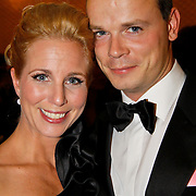 NLD/Tilburg/20101010 - Inloop musical Legally Blonde, Alexandra Alphenaar en partner Jaap van Andel