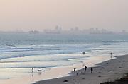 Hazy Afternoon on the Beach in Huntington Beach California