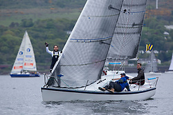 Day 1 Scottish Series, SAILING, Scotland.<br /> <br /> Class 3, Farr E Nuf, Farr 727, GBR7029<br /> <br /> The Scottish Series, hosted by the Clyde Cruising Club is an annual series of races for sailing yachts held each spring. Normally held in Loch Fyne the event moved to three Clyde locations due to current restrictions. <br /> <br /> Light winds did not deter the racing taking place at East Patch, Inverkip and off Largs over the bank holiday weekend 28-30 May. <br /> <br /> Image Credit : Marc Turner / CCC