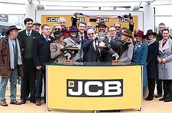 Owners Group 31 celebrate victory in the JCP Triumph Hurdle during Gold Cup Day of the 2019 Cheltenham Festival at Cheltenham Racecourse.