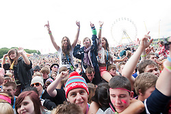 Fans of Ben Drew of Plan B on the main stage..Rockness, Saturday 12th June..Pic ©2010 Michael Schofield. All Rights Reserved.
