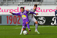 Johan CAVALLI / Manuel PEREZ  - 20.12.2014 - Brest / Ajaccio - 18eme journee de Ligue 2 -<br /> Photo : Vincent Michel / Icon Sport