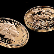 The royal mint, a sovereign shot in the Hype Photography studio.