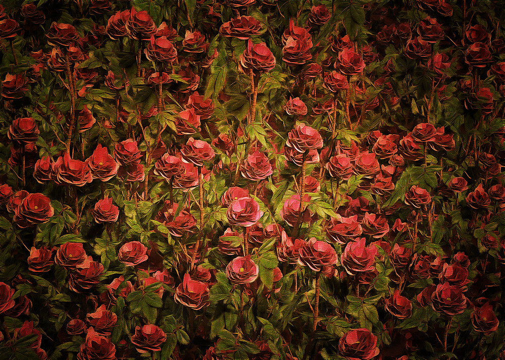 Do you love roses? If you are someone who appreciates the wealth of emotions and thoughts that can accompany stunning roses, then this piece is something that will completely take your breath away. This is a beautiful marriage of color and shape, creating an array of very special roses. This piece from Jan Keteleer can take you deep within your memories. It can take you back to a very special time in your life. It can show you everything that can be gained by stopping for a moment, if only for a moment, and appreciating the beauty of something that is right in front of you. .<br />