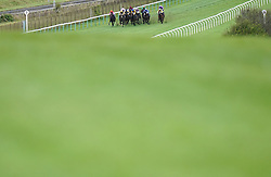 Runners and riders in the Vickers Best Odds Guaranteed Nursery Handicap at Brighton racecourse. Picture date: Tuesday October 5, 2021.