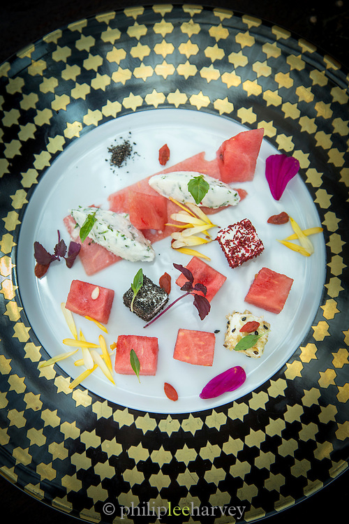 Food at Omnia Gourmet restaurant, Dubai, United Arab Emirates