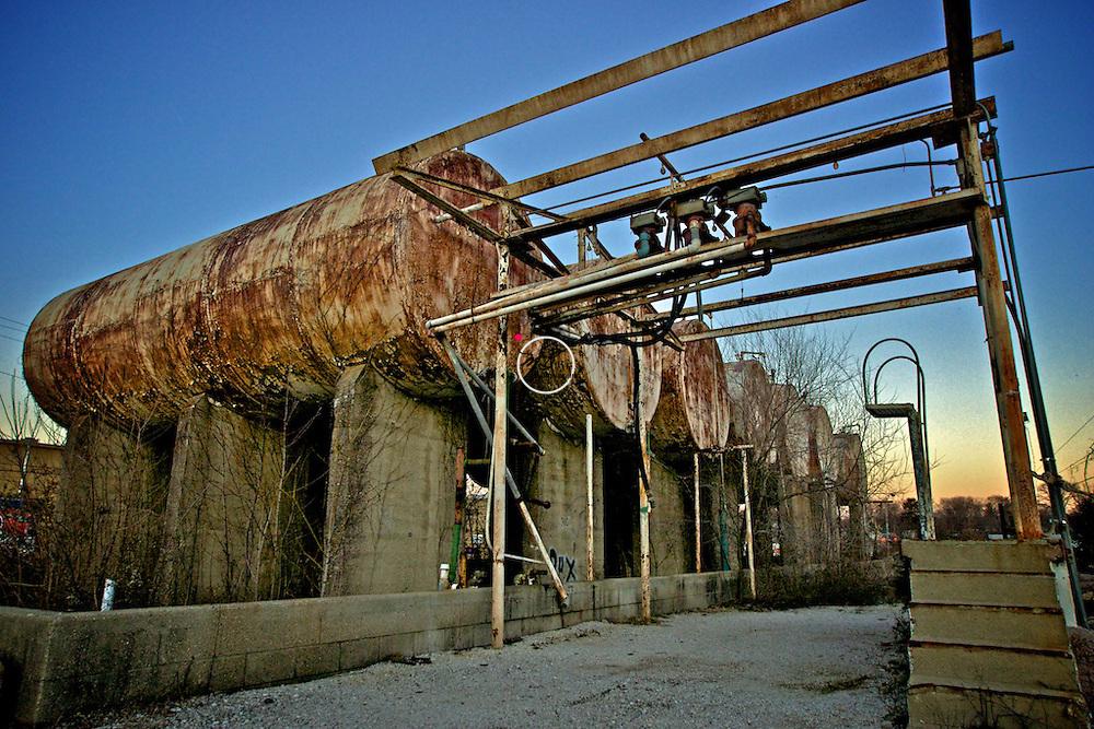 Derelict Oil Tanks, Bloomington Indiana